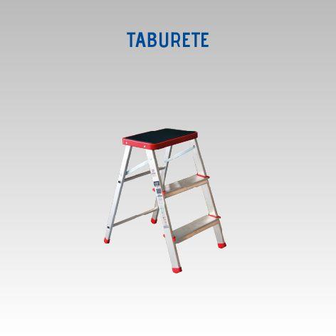 LUBER TABURETE ALUMINIO