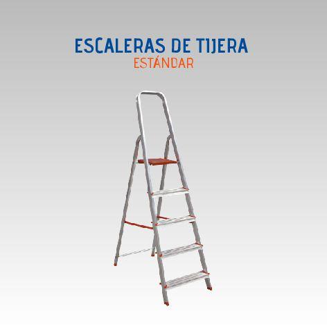 LUBER ESCALERA ESTANDAR 3 PELDAÑOS ALUMINIO