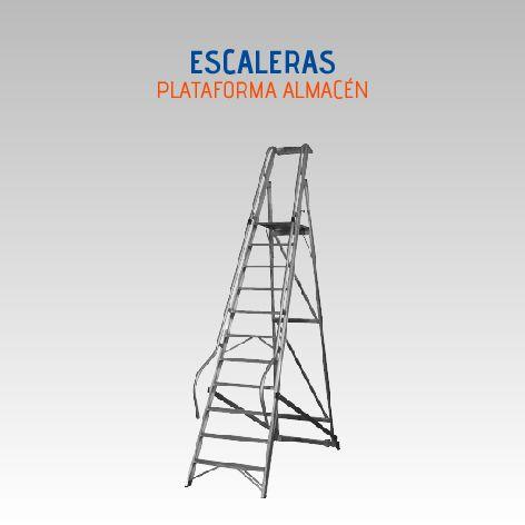 LUBER PRO ESCALERA ALMACEN 8 P. 2,75 M EN ALUMINIO