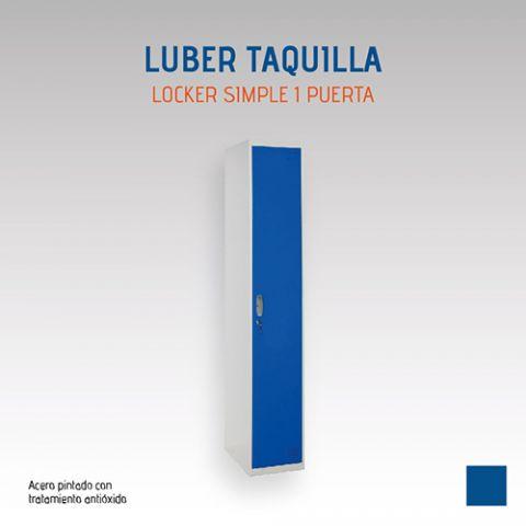 LUBER TAQUILLA LOCKER SIMPLE 1 PUERTA - AZUL