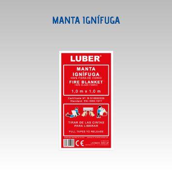 LUBER MANTA IGNIFUGA 1X1M. FIBRA VIDRIO 100% - PVC