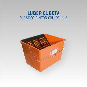LUBER CUBETA PLÁSTICO PINTOR 16 L. C/REJILLA