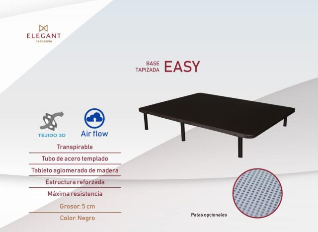 ELEGANT BASE TAPIZADA EASY 90X190 - 3D AIR