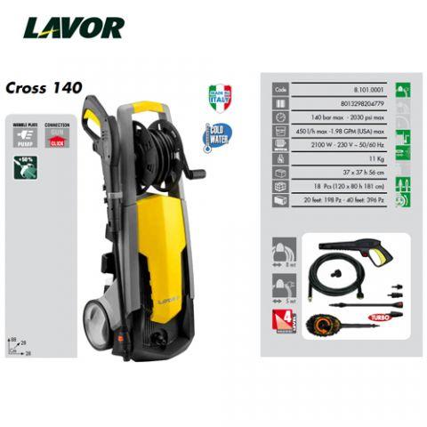 LAVOR HIDRO CROSS 140 CON CEPILLO ROTATORIO