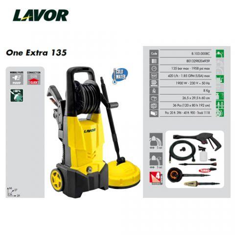 LAVOR HIDRO ONE EXTRA 135 2L + 2CEPILLOS + SLIDER