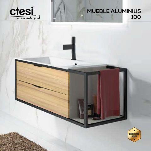CTESI MUEBLE SUSP. ALUMINIUS 100 2C/1E HERA L.80