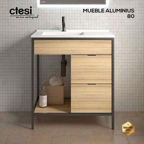CTESI MUEBLE ALUMINIUS 80 2C/1E HERA LEFT