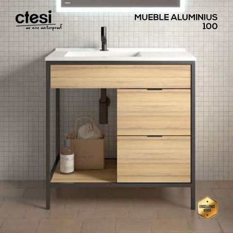 CTESI MUEBLE ALUMINIUS 100 2C/1E HERA LEFT