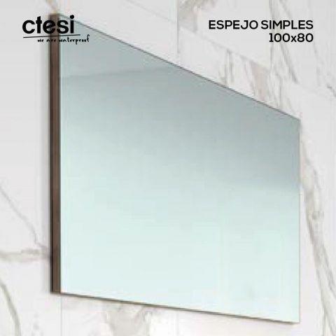 CTESI ESPEJO SIMPLES 100X80 TRASERA GRIS