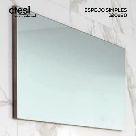 CTESI ESPEJO SIMPLES 1200X80 TRASERA GRIS